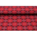 Jersey Plaid-Serie College Plaid rot dunkel